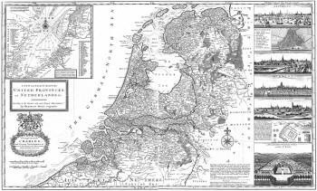 A new and exact Map of UNITED PROVINCES of NETHERLANDS