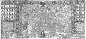 Gloriae Germanicae typus exhibens… Germaniae principum icones, imperatorum… insignia, Germaniae tabulam secunîum