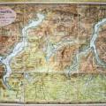 NUOVA CARTA TOPOGRAFICA DEI TRE LAGHI Maggiore di Lugano e di Como