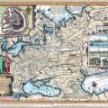 Карта России по рисунку Фёдора Годунова. До 1665 года.