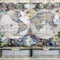 Le Globe terrestre representé en deux plans-hemispheres : dressé sur les dernieres observations et..